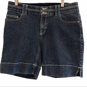 DH women's blue denim jeans shorts size 8